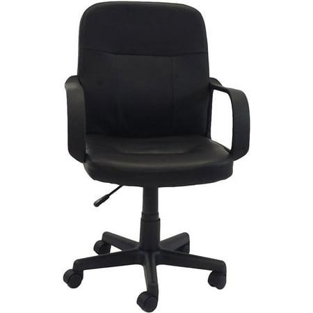 hodedah pu leather mid back office chair black