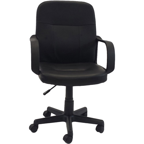 hodedah pu leather midback office chair black