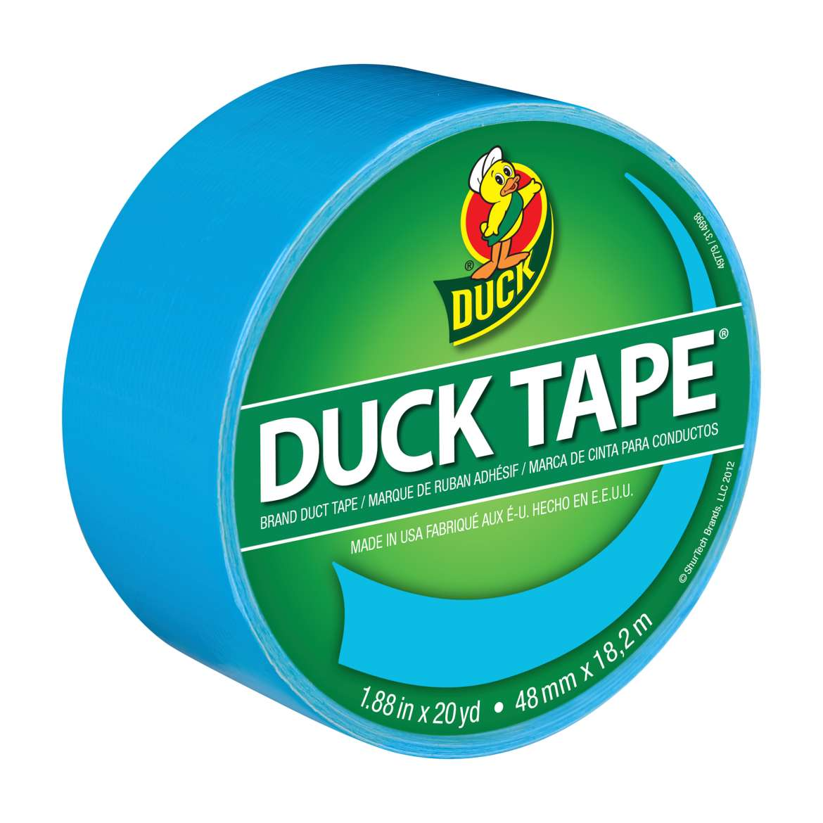 Color Duck Tape Brand Duct Tape - Electric Blue, 1.88 in. x 20 yd.