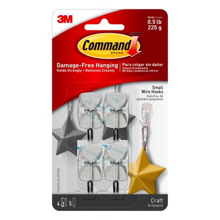 9 Replacement Strips - Command Small Clear Utensil Hooks with Clear Strips Pack, 9 Piece