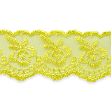 (Expo 5 yards of Fabiana Fancy Flower  Embroidery trim)