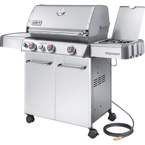 Weber Genesis S330 42,000 BTU 3 Burner NG Gas Grill w / Side Burner, Stainless Steel