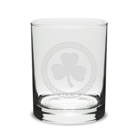 Shamrock Celtic Logo 14 oz Classic Double Old Fashion Glass