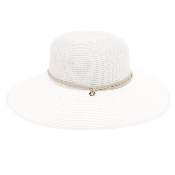 92924b13ffc4ce Sloggers - Womens White Wide Brim Braided UPF 50+ Hat Sun Protection ...