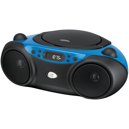 CD Boombox, AM/FM, LED Display - Blue (Small Boom Box With Cd Player)