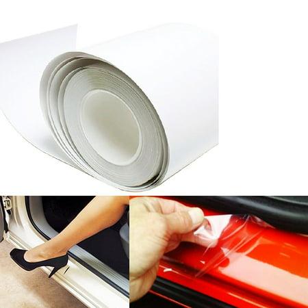 "Xotic Tech 6"" x 60"" Clear Universal Door Sill Guard Paint Protection Film Vinyl Sheet"