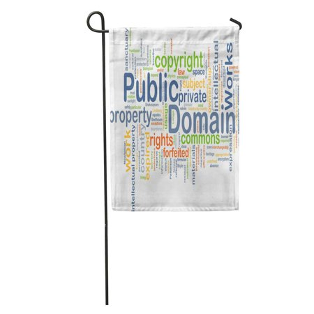 JSDART Cloud Wordcloud of Public Domain Copyright Word Commons Conceptual Country Garden Flag Decorative Flag House Banner 12x18 inch - image 1 of 2