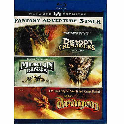 Fantasy Pack: (Dragon Crusaders   Merlin and the War of the Dragons   Dragon) Blu Ray by