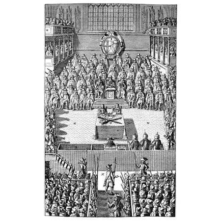 Charles I (1600-1649) Nking Of Great Britain And Ireland 1625-1649 The Trial Of Charles I January 1649 Copper Engraving English 1684 Rolled Canvas Art -  (24 x (1684 Art)
