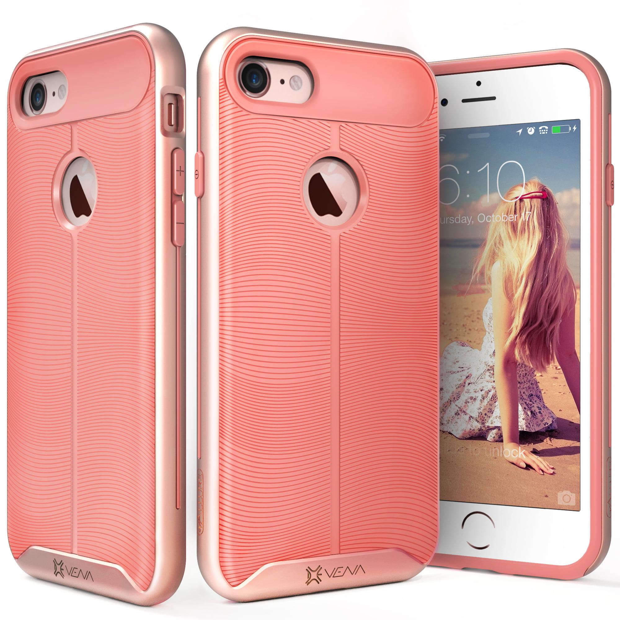 Vena [vAllure] Hybrid Wave Design Slim Case Cover Skin for Apple iPhone 7 7 Plus