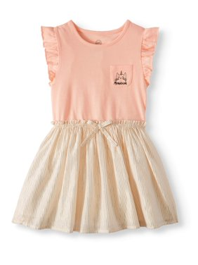 209eb86b3 Product Image Wonder Nation Ruffle Sleeve Cinch Waist Dress (Toddler Girls)
