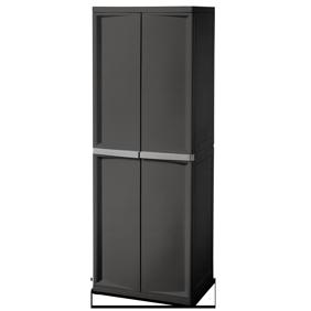 Sterilite 4 Shelf Cabinet Flat Gray