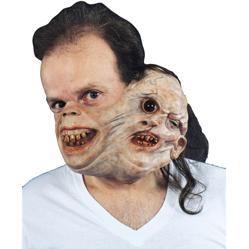 Twosome Gruesome Half Mask Adult Halloween Accessory