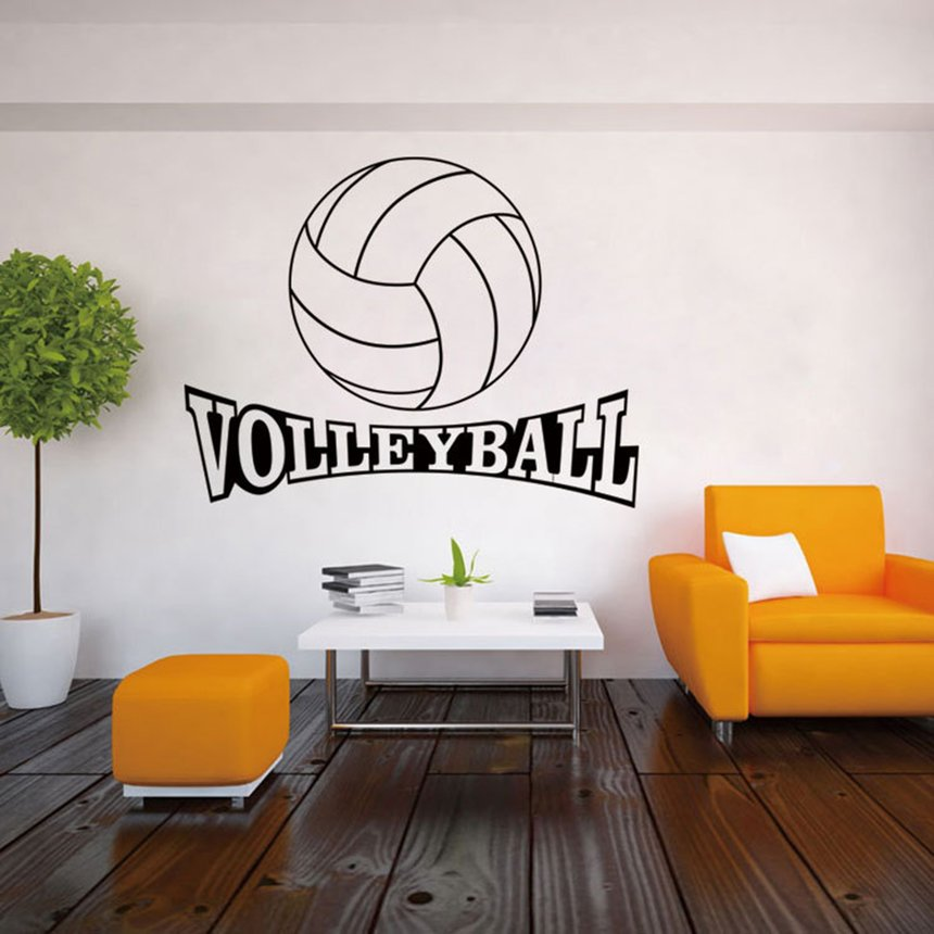 Volleyball Pattern Sports Wall Decals Stickers Removable Selfadhesive 48D Bedroom Living Room Home Wall Background Decoration Beauteous Volleyball Bedroom Decor