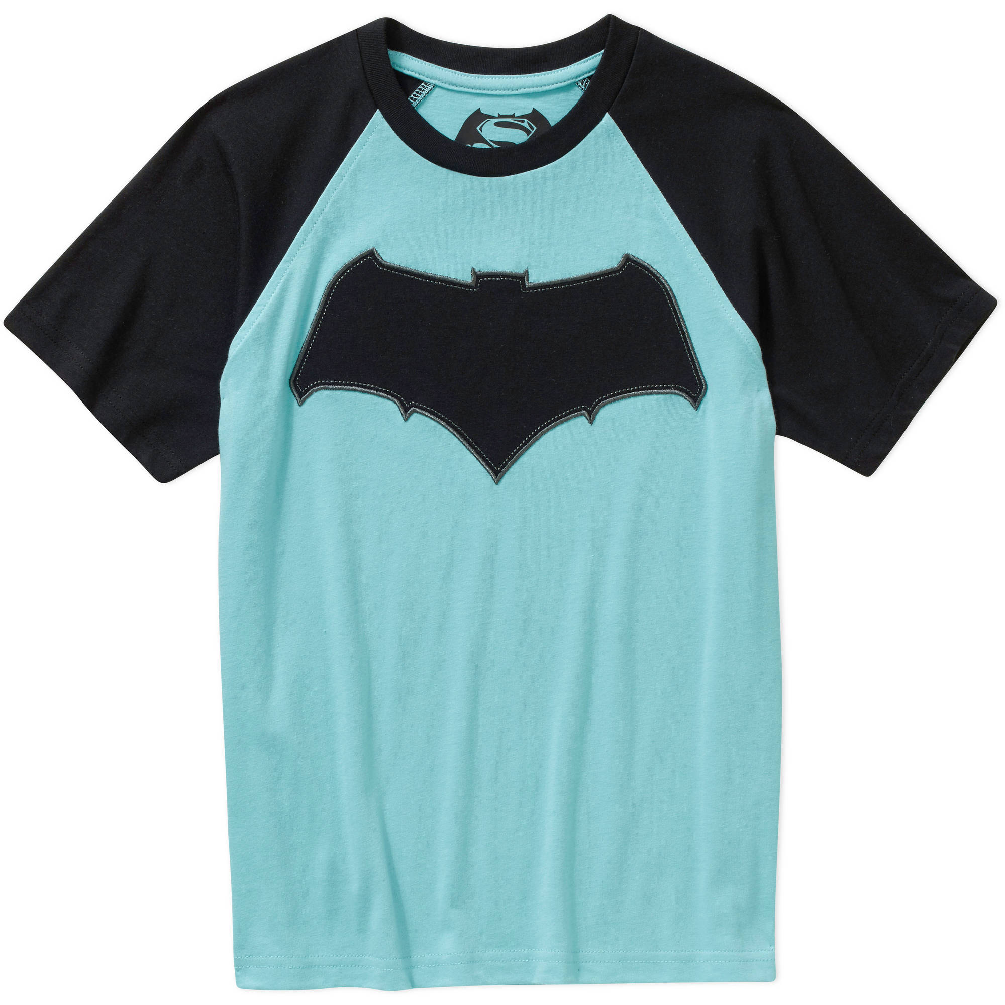 DC Comics Batman Boys Raglan Sleeve Graphic Tee