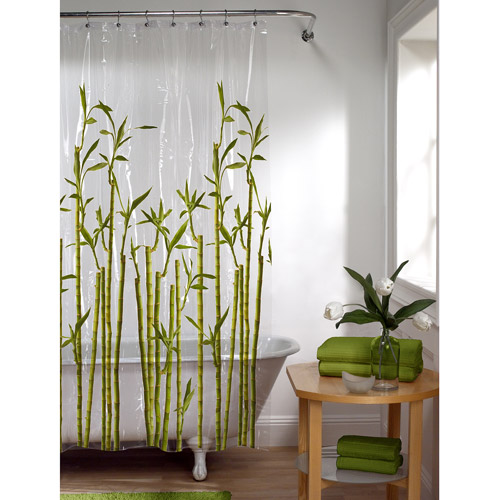 Exceptional Maytex Bamboo Photoreal PEVA Shower Curtain
