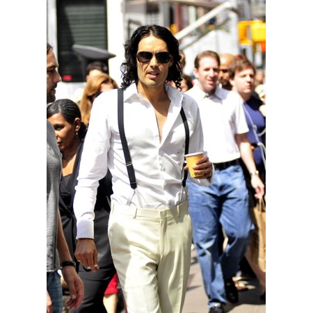 Russell Brand Walks To The Arthur Movie Set On 3Rd Ave In New York City Out And About For Celebrity Candids - Friday  New York Ny July 30 2010 Photo By William D BirdEverett Collection (432 6th Ave New York Ny 10011)