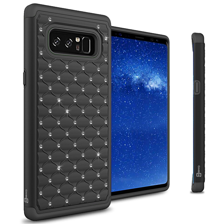 CoverON Samsung Galaxy Note 8 Case, Aurora Series Rhinestone Phone Cover