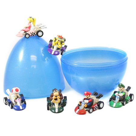 6 Mario Kart Pull Back Cars Cake Toppers 2 inch PVC Toys](Cars Cake Toppers)