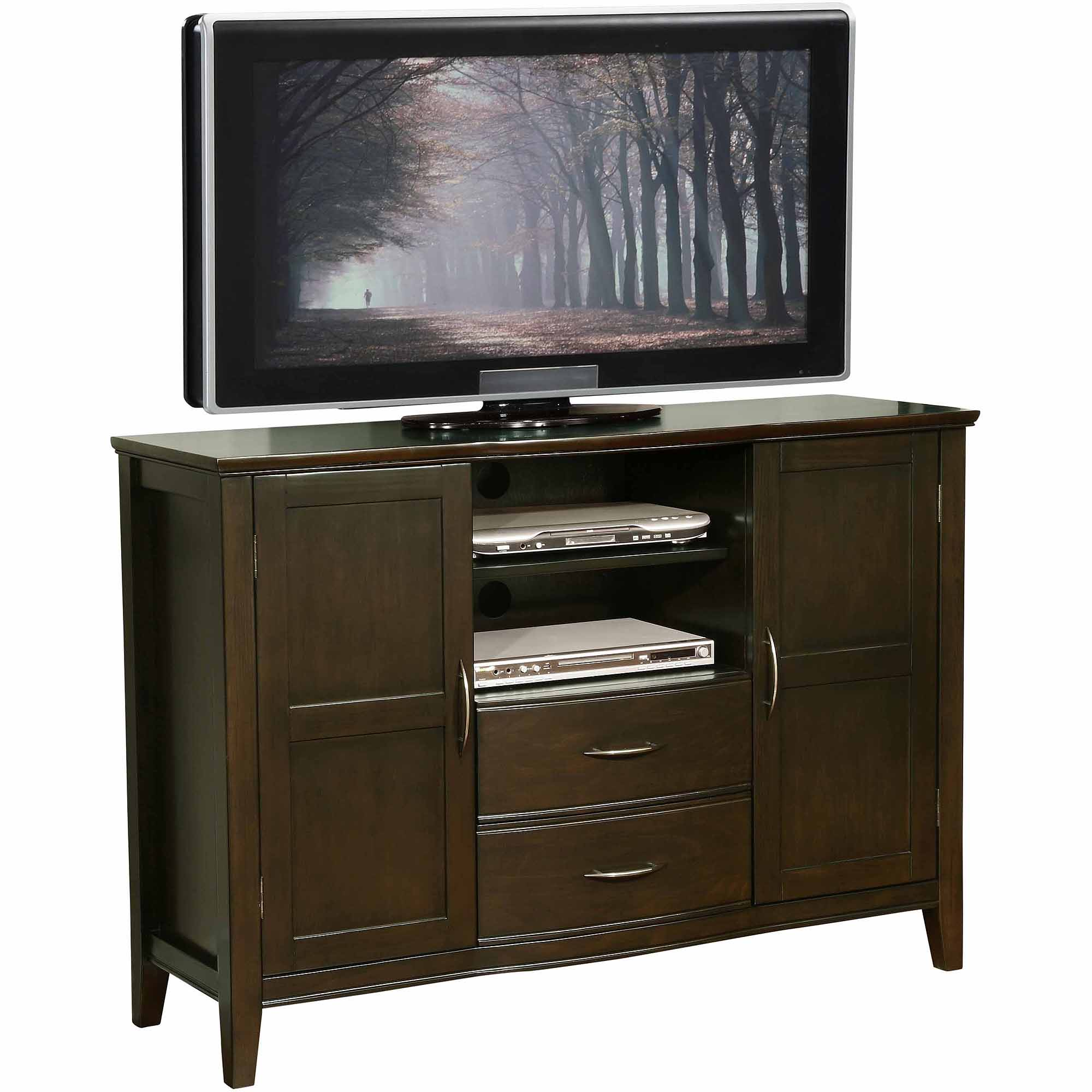 Brooklyn + Max Carolina Dark Exeter Brown Tall TV Media Stand for TVs up to 60""