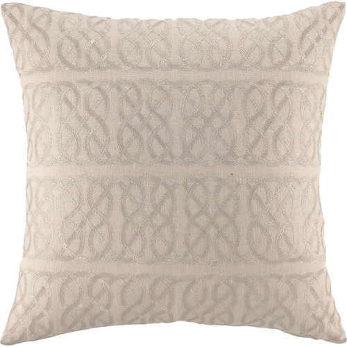 D.L. Rhein Embroidered Nautical Knot Linen Throw Pillow