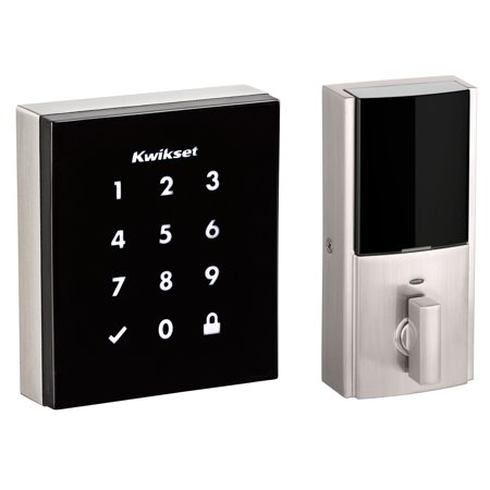 Kwikset 99530-001 Obsidian Slim Modern Electronic Touchscreen Keyless Satin Nickel