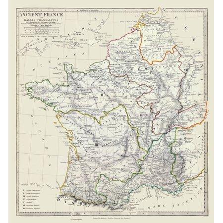 International Map - Ancient France - Society 1830 - 23 x 24 90