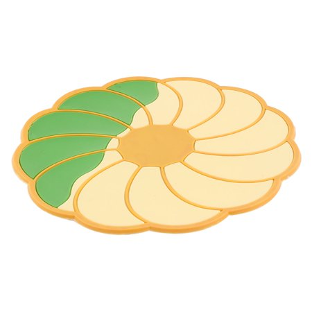 Kitchen Flowers Shaped Non-Slip Heat Resistant Insulation Coasters Placemat