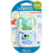 Dr. Brown's PreVent Orthodontic Pacifiers, 2 count (Design May Vary) BPA-Free