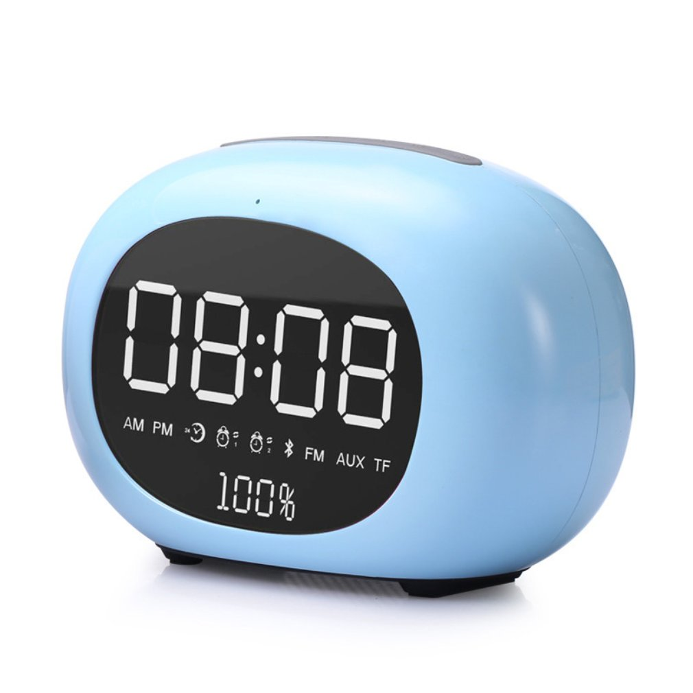 Multifunctional Wireless Bluetooth Music Player Stereo Speaker Dual Alarm Clock FM Radio Music Player TF Card AUX