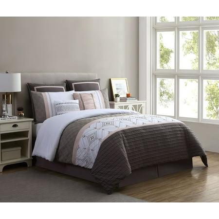 Better Homes & Gardens Blush Embroidered 8-Piece Comforter Set, King, Blush