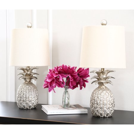 Val Pineapple Silver Table Lamp (Set Of
