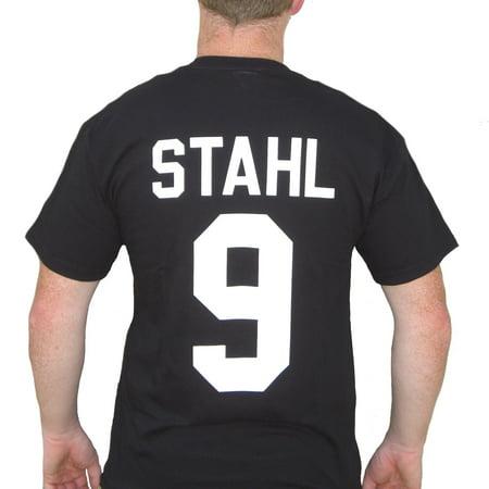 Gunnar Stahl #9 Iceland Jersey T-Shirt Mighty Ducks 2 D2 Costume Uniform