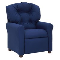 The Crew Furniture Traditional Kids Microfiber Recliner Chair, Multiple Colors