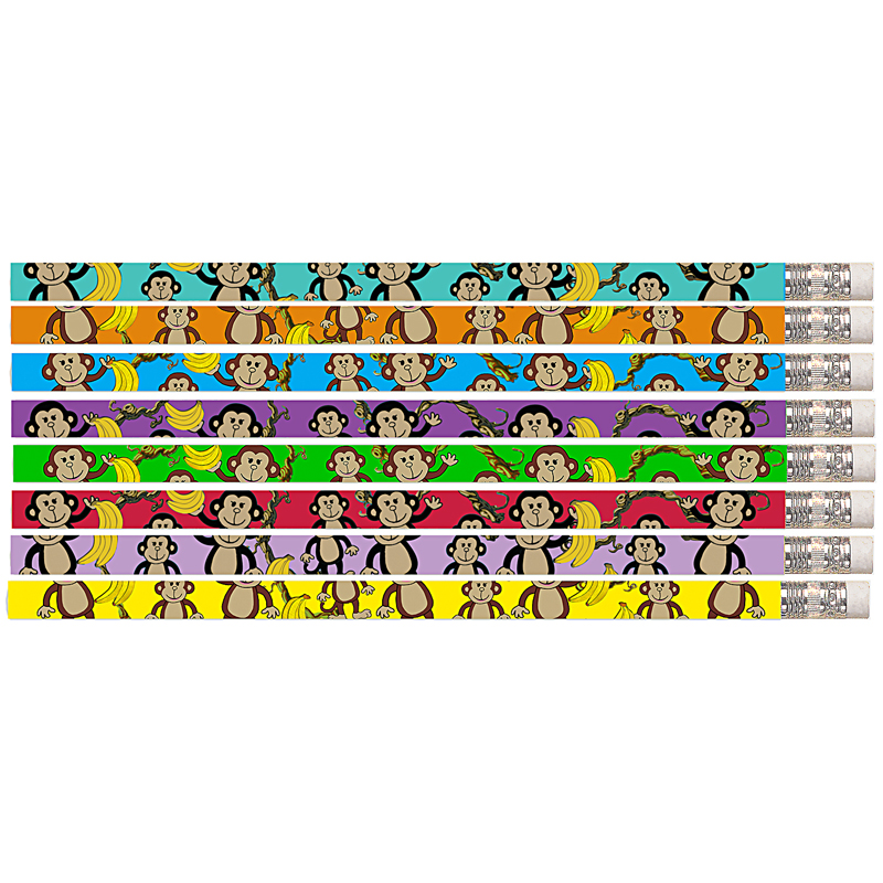 DANCIN MONKEY 12PK MOTIVATIONAL FUN PENCILS