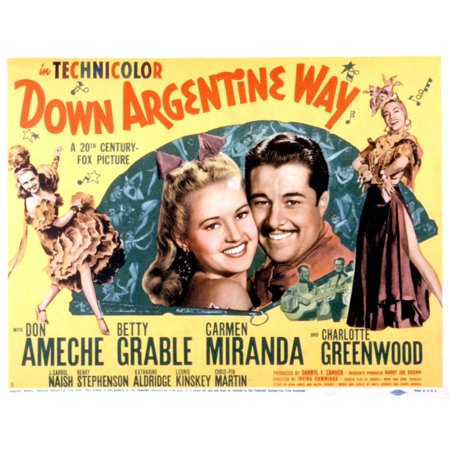 Image result for DOWN ARGENTINE WAY MOVIE POSTER