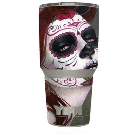 Skin Decal For Yeti 30 Oz Rambler Tumbler / Sugar Skull Girl