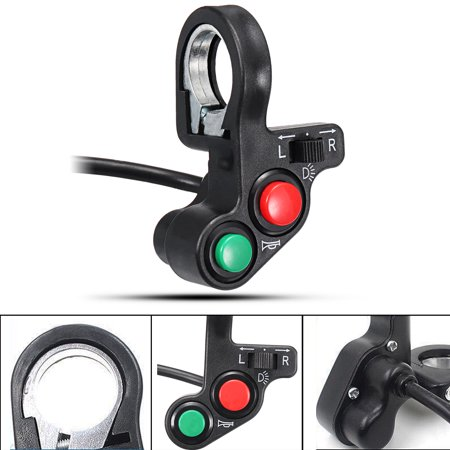 7/8 22mm Universal Electric Motorcycle Handlebar On Off Control Switch Turn Signal Light ATV Bike Bicycle Horn Indicator