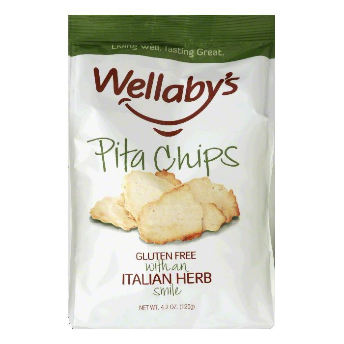 Wellabys with an Italian Herb Smile Pita Chips, 4.2 Oz (Pack of 6)