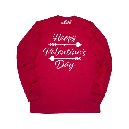 Happy Valentines Day with arrows Long Sleeve T-Shirt