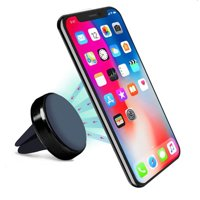 For Universal 360° Air Vent Phone Magnetic Windshield Dashboard Suction Car Mount Holder Stand - Black