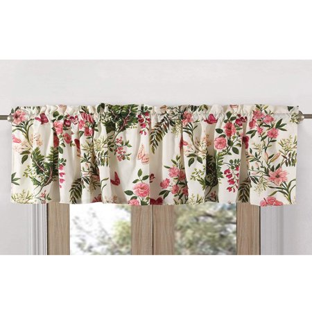 Greenland Home Fashions Butterflies High Quality Ready Made Polyester Fabric Window Curtain Valance - 84x14