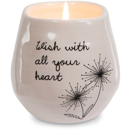 Pavilion - Wish with all Your Heart Pink Ceramic Soy Serenity Scented - Serenity Scented Candle