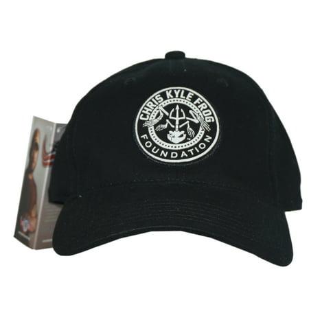 Chris Kyle Mens Frog Foundation Logo Fitted Hat L Xl Black