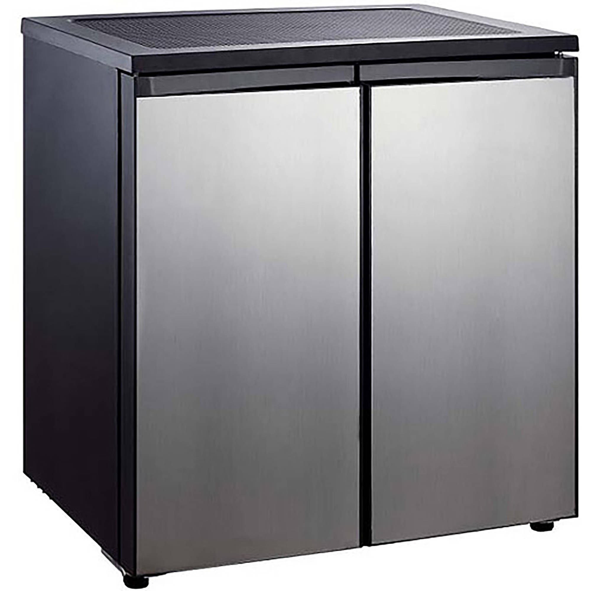 Igloo 5.5-cu. ft. Side-by-Side 2-Door Refrigerator/Freezer, Stainless Steel
