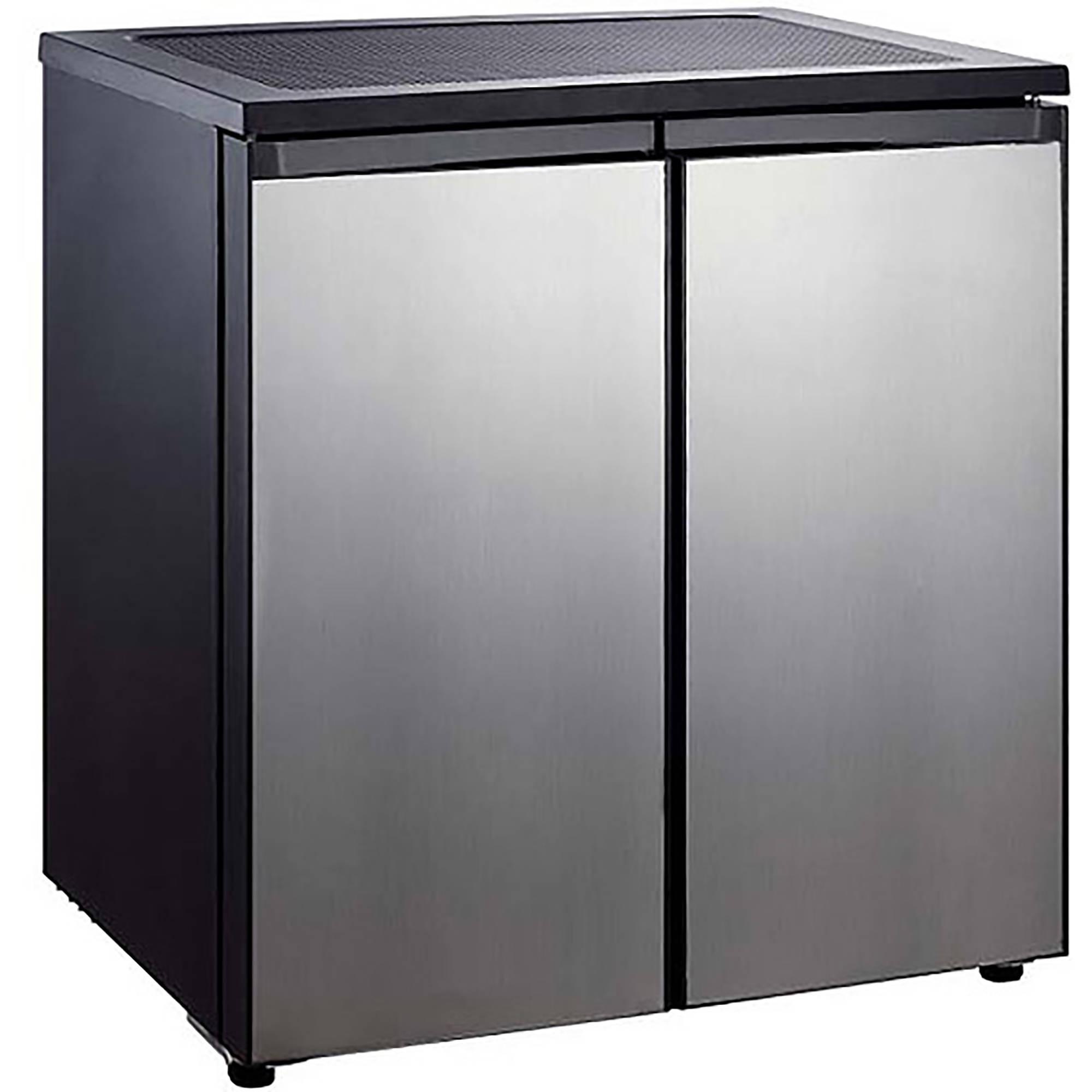 Igloo 5.5-cu. ft. Side-by-Side 2-Door Refrigerator/Freezer, Stainless Steel