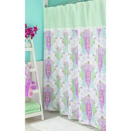 Dena Home Peacock Shower Curtain
