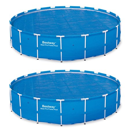 18 Foot Round Above Ground Swimming Pool Solar Heat Cover (2 Pack) (Best Way To Get Wavy Hair Without Heat)