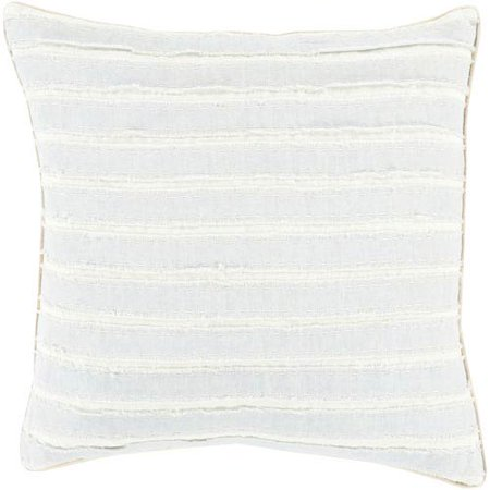 English Blue Willow - Willow Blue and Neutral 18-Inch Pillow Cover