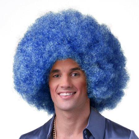 Sepia Costume Color Afro Synthetic Wig Dark Blue